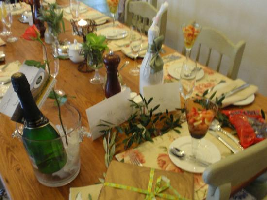 Gooding's Groves Olive Farm & Guest House : Special setting - Birthday celebrations