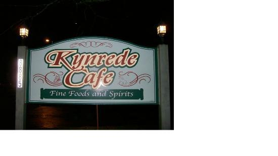Kynrede Cafe Incorporated: Sign by the sreet
