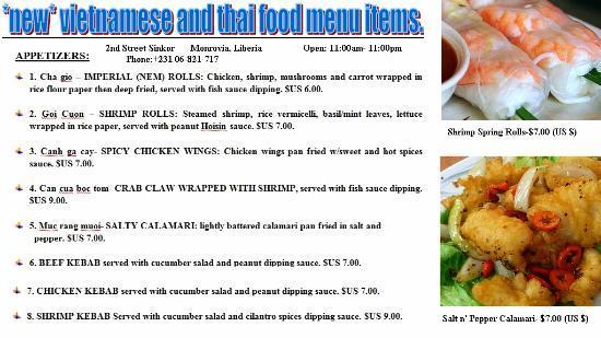 New Vietnamese Thai Food Menu Items At Golden Beach Facebook