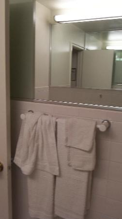 Tomac Motor Inn: Bathroom mirror