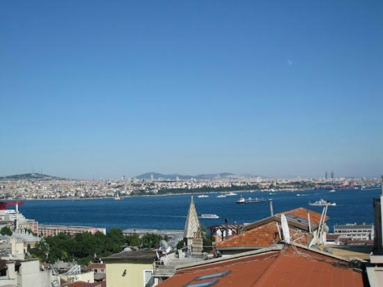 View of the Bosporus and the Old City from our room at the Galateia Residence