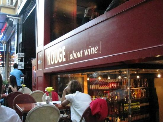 Rouge Wine House: Rouge, where we sampled our first delicious Turkish wine
