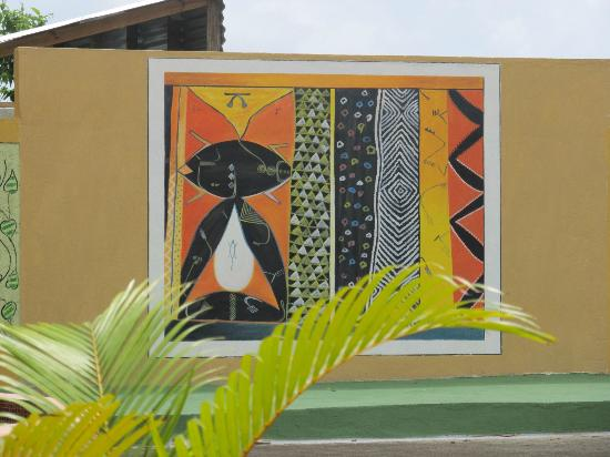 Pimento Lodge Resort : Picture in pool area on the wall.