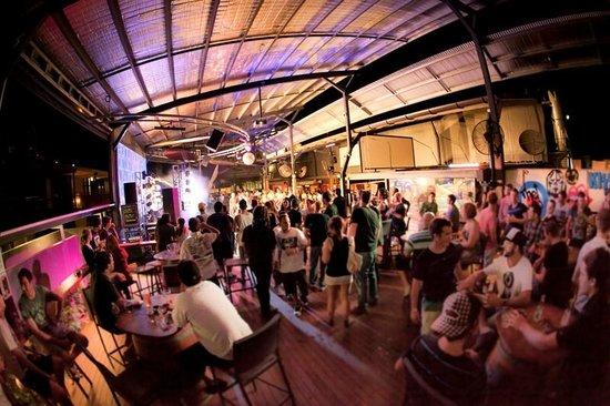 Beer Garden The Jack Backpackers Cairns