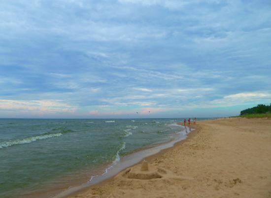 Silver Lake Sand Dunes: View of Lake Michigan at Little Sable Point