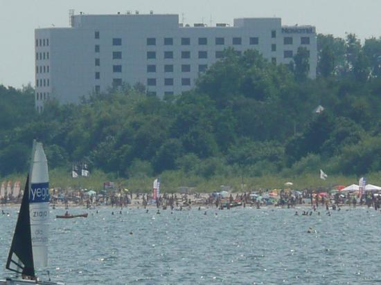 Novotel Gdansk Marina: Distant view from pier