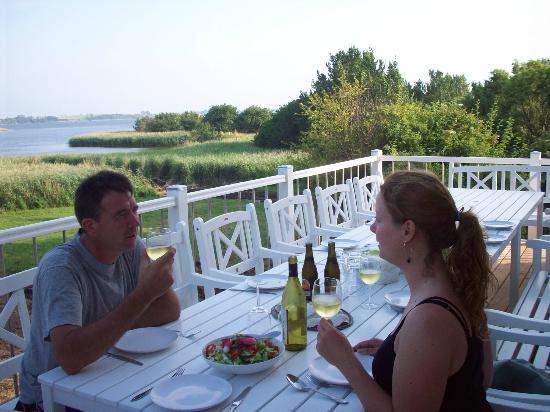 Hygge på terrasse med udsigt til stege nor   picture of stege nor ...