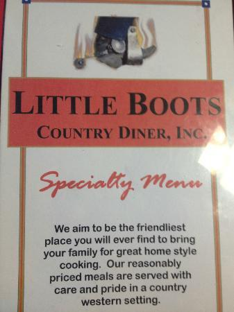 Little Boots Country Diner: Nothing else to say, this is true !