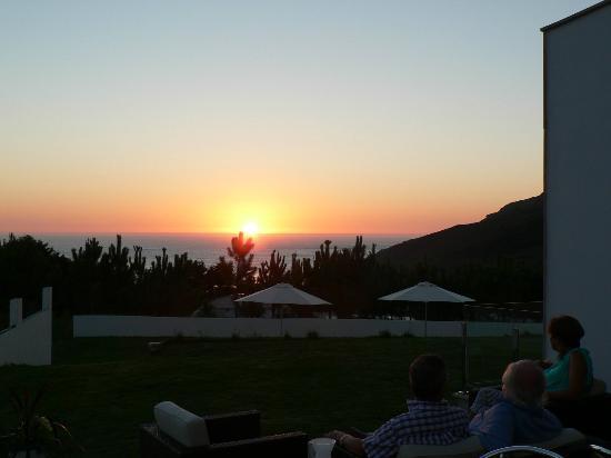 Hotel Mar da Ardora: Puesta de sol desde terraza comun