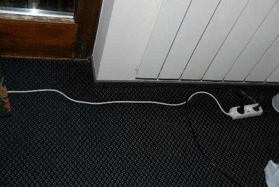 Czarny Potok Hotel: przedłużacz do lampy