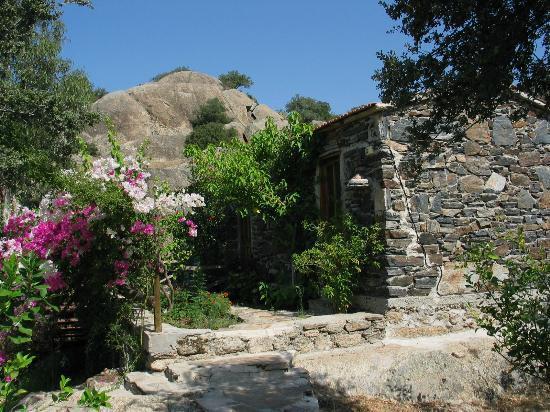Kaya Pension: Im traditionellen Stil gebauten Steinhäuser