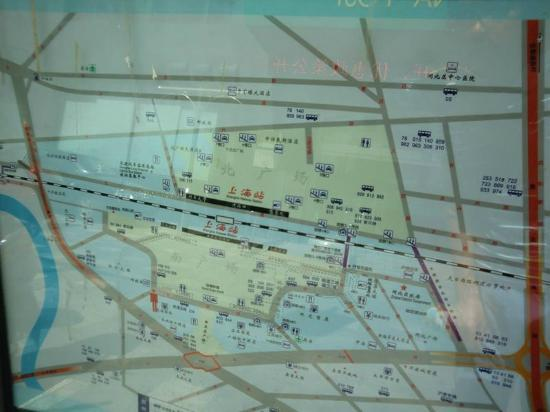 Baolong Homelike Hotel (Shanghai Zhongshan): The map flom shanghai station