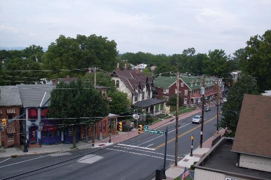1863 Inn of Gettysburg: view from the top floor