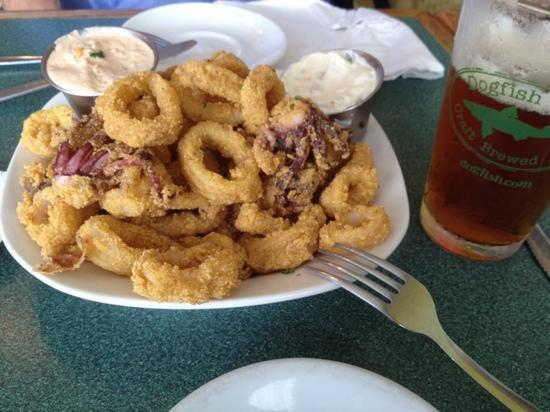 Po' Boys Creole & Fresh Catch: calamari at Po Boys