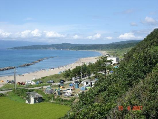 Sado Seaside Villa: Vista desde la piscina