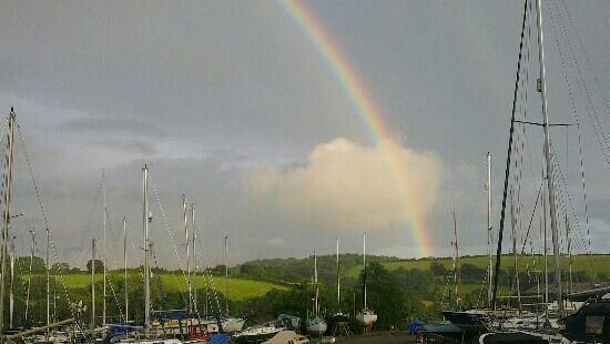 Landrake, UK: View from the sail loft!
