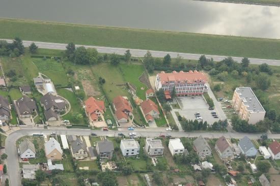 Hotel Podhradie - view from sky