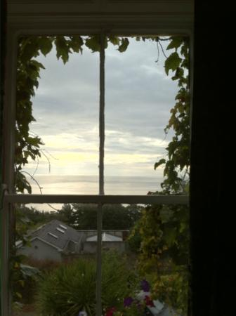 Druid Lodge: View of the sea from our room