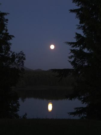 Full Moon on Ucluelet Inlet from On The Inlet B&B