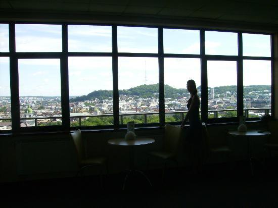 Dnister Hotel: Панорама с отеля на город
