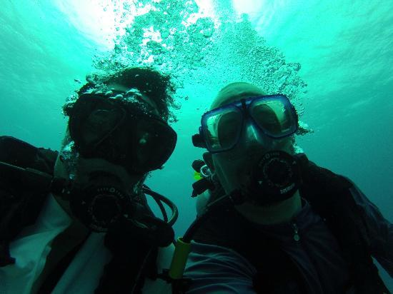 Octopus Diving: Charles and I enjoying our dive time