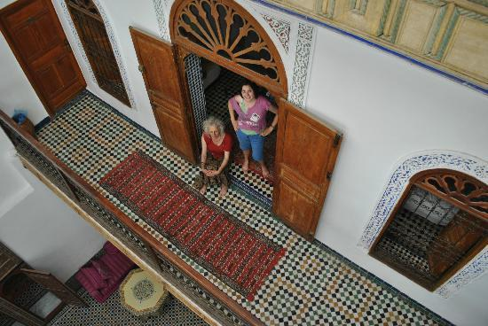 Dar Iman: Our Three-Bed Room and Balcony Overlooking the Dar Courtyard
