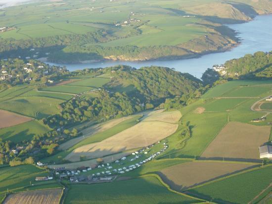 Higher Rew Caravan and Camping Park: Aerial view of Higher Rew Camping Park