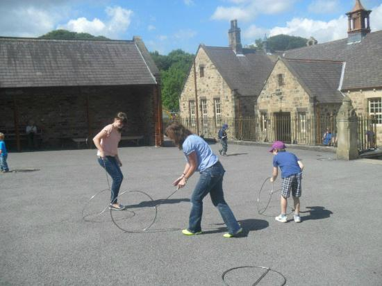 Playing old fashioned games in the school yard - Picture of ...