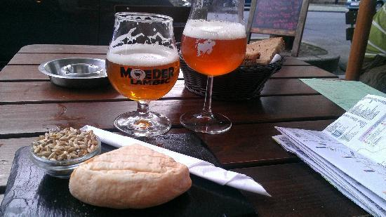 Moeder Lambic: Cheers to having beer outside on a warm summer night.