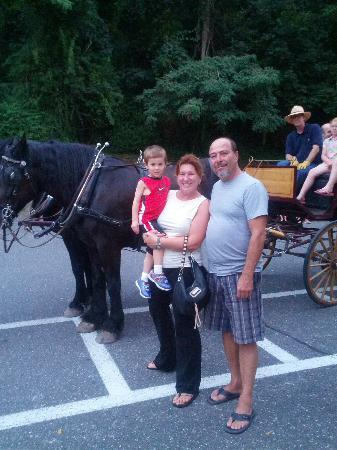 Brook House Restaurant: Carriage ride Aunt & Uncle of Baby Kevin