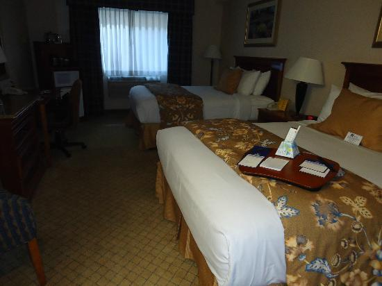 BEST WESTERN PLUS High Sierra Hotel: Bed area