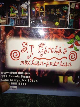SJ Garcias: Menu Cover