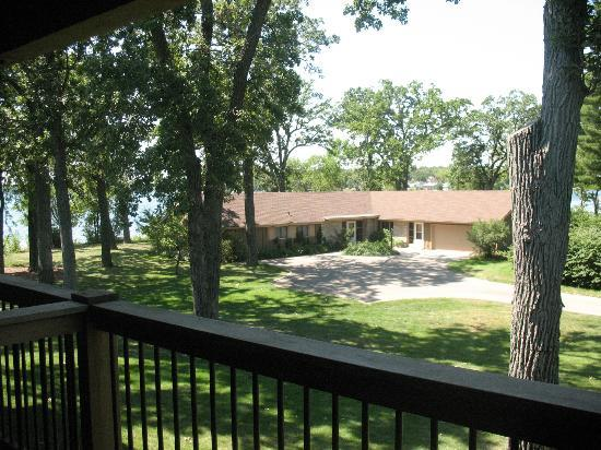 Lake Lawn Resort: View from our room balcony.