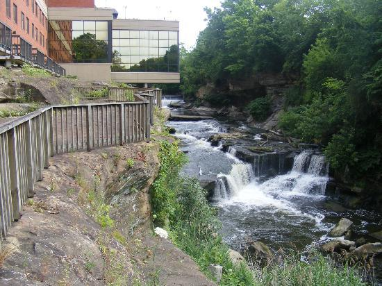Sheraton Suites Akron Cuyahoga Falls: the river side is beautiful, twirl pool suite is disappointing