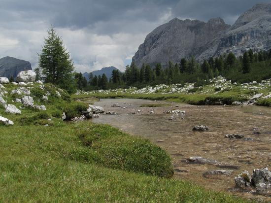 Tanta acqua sull'Alpe di Fanes