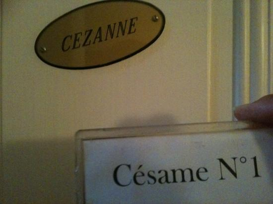 Le Pavillon Bleu: sleutel 'Césame' van kamer 'Cézanne' van Pavillon Bleu