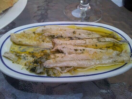 """Crepes'n Tapas Bar : """"Boquerones"""" Whitebait marinated in vinegar"""