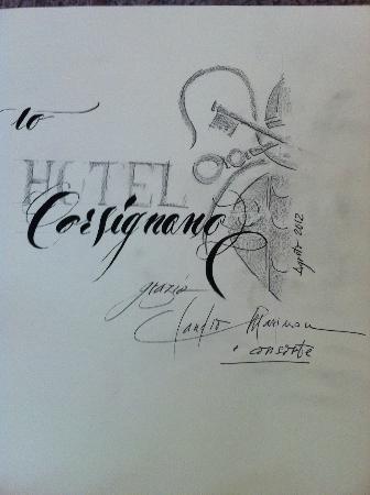 Hotel Corsignano - Pienza: libro degli ospiti
