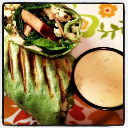 Blue Moon Coffee Shop: One of our delicious wraps!