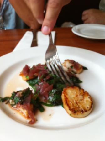 The Red House : scallops