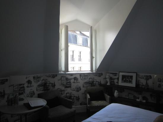 La Villa Saint-Germain: the windows opened to let in fresh air and a great view