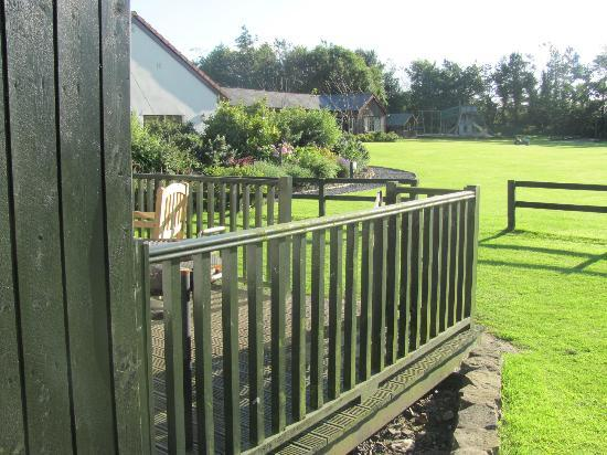 Village Farm: Veranda looking over playing fields