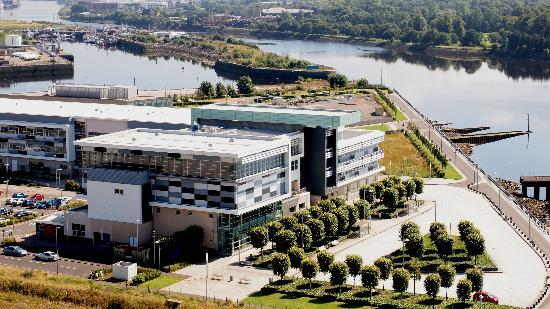 Clydebank Titan: The new Clydebank College from the crane