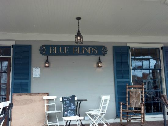 Blue Blinds Bakery Front