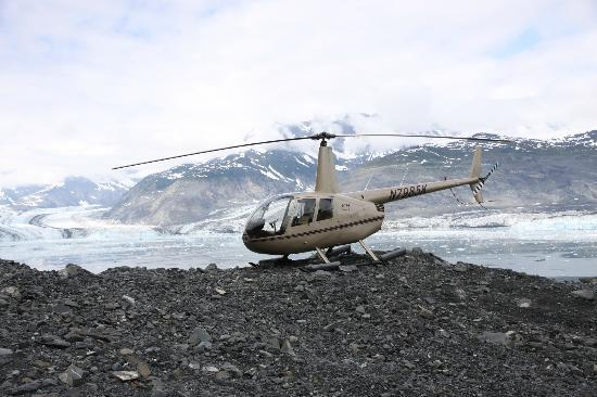 VSHelicopters Tours: A beautiful overlook to watch and listen to the thunderstorm known as the Columbia Glacier!