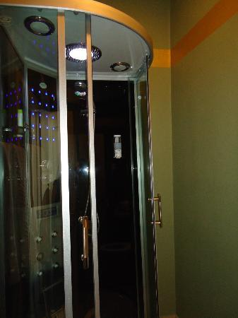 Pensiunea Siago Hotel: Fancy shower