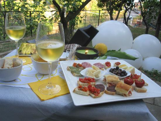 La Casa Dei Limoni: Välsmakande tallrik som B&B anordnade på beställning