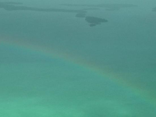 Las Terrazas Resort: Leaving Ambergris Caye- A Rainbow
