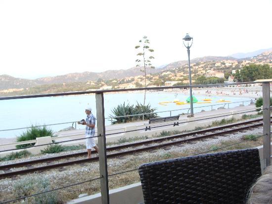 L'eden Cafe : vue de la terrasse