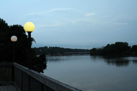 Holiday Inn Express Danville: The Dan River, right behind the hotel.